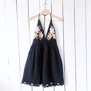 Free People Love and Flowers Embroidered Dress